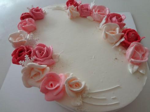 高島屋バラのケーキ